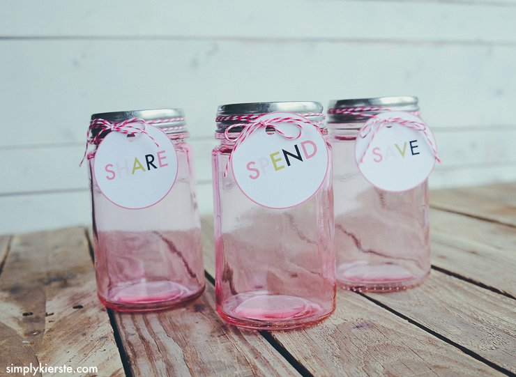 Save, Spend & Share Jars for Kids