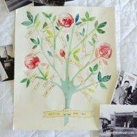 Family Tree Illustration GIVEAWAY {by Sarah Nielsen Art}