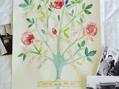 Family Tree Illustration by Sarah Nielsen | simplykierste.com