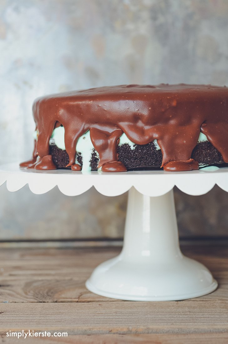 Chocolate Mint Ice Cream Cake | oldsaltfarm.com