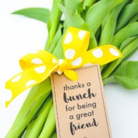 Thanks a Bunch! Printable Gift Tags for Flowers