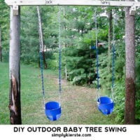DIY Outdoor Tree Baby Swings