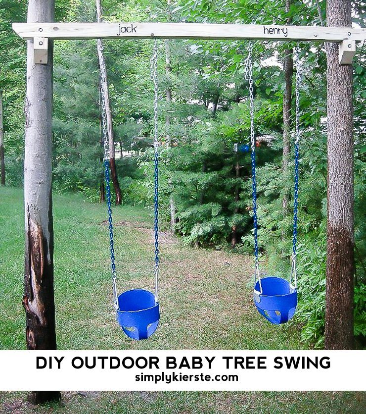DIY Outdoor Baby Tree Swings | simplykierste.com
