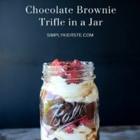 Double Chocolate Brownie Trifle in a Jar
