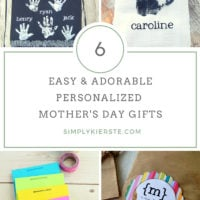 6 Easy & Adorable Personalized Mother's Day Ideas