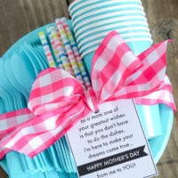 Less Dishes for Mom: Mother's Day Gift & Printable