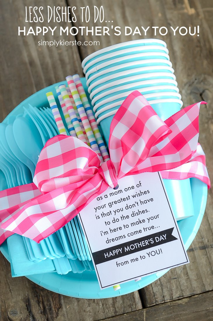 A Day of Less Dishes | Mother's Day Gift & Printable | simplykierste.com