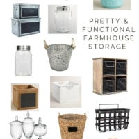 Pretty & Functional Farmhouse Storage Ideas | oldsaltfarm.com