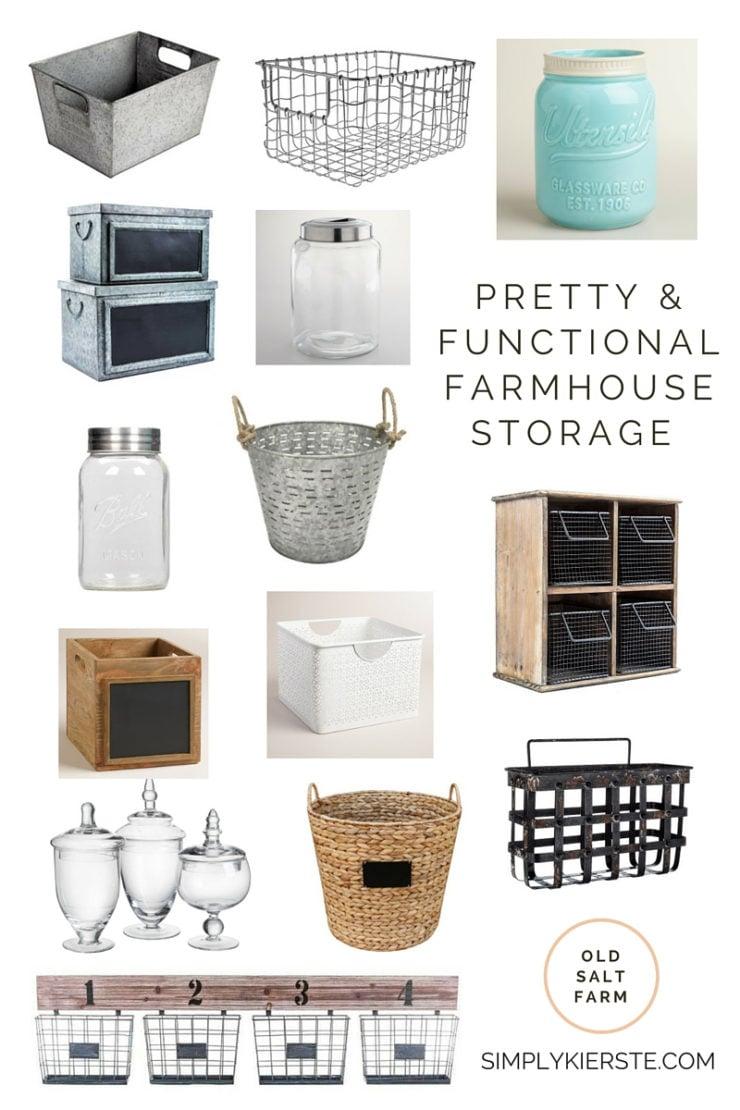 Pretty & Functional Farmhouse Storage Ideas | simplykierste.com