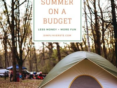 How to Do Summer on a Budget | simplykierste.com