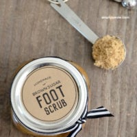 DIY Brown Sugar Foot Scrub Recipe