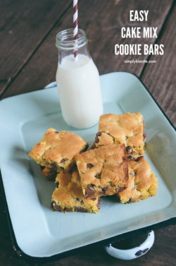 Easy Cake Mix Cookie Bars | simplykierste.com