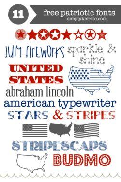 Favorite & Free Patriotic Fonts   simplykierste.com