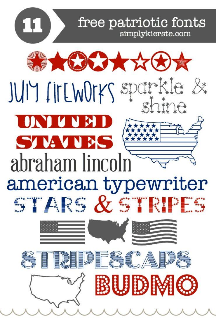 Favorite & Free Patriotic Fonts | simplykierste.com