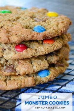 Jumbo Monster Cookies | simplykierste.com