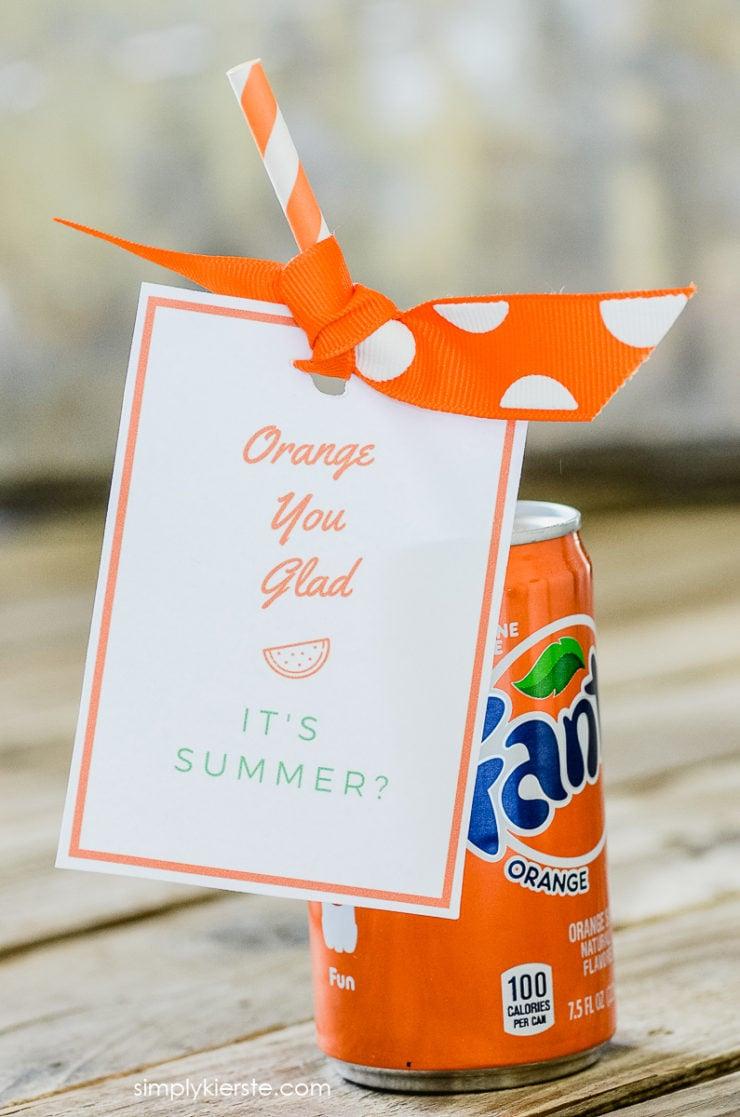 Orange You Glad It's Summer | Free Printable & Gift Idea | simplykierste.com