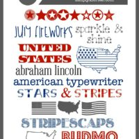 Free Patriotic Fonts | 4th of July Fonts | simplykierste.com
