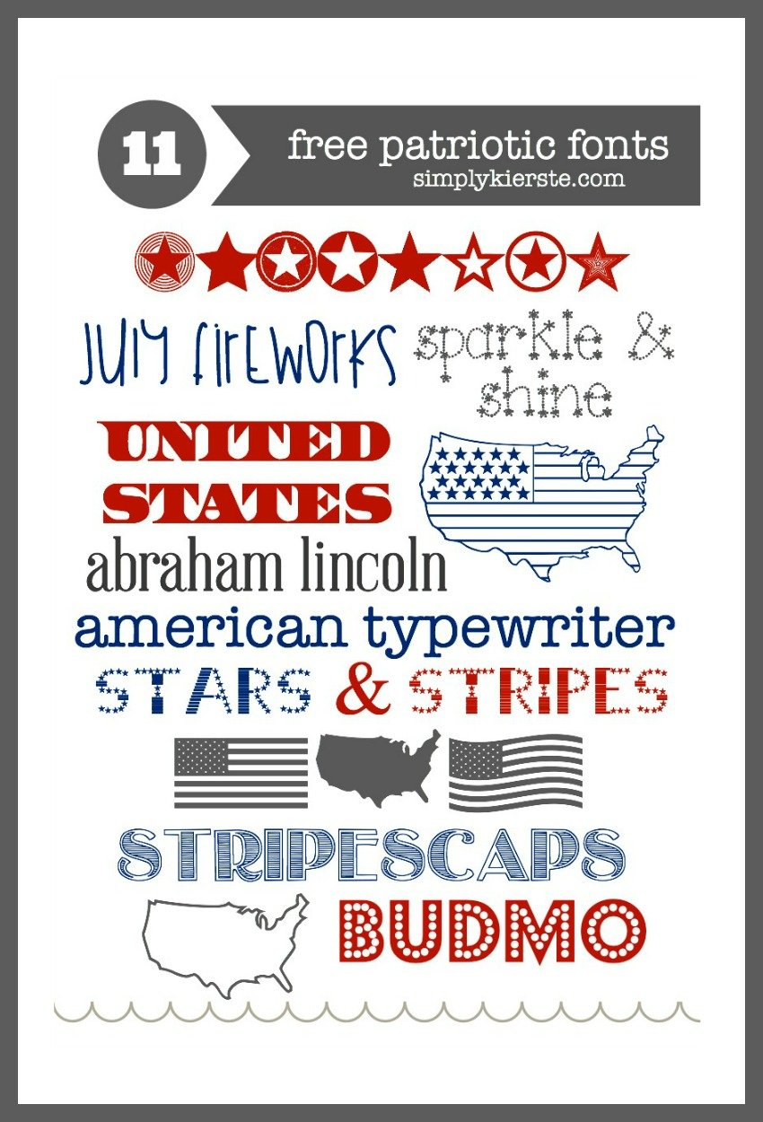 Free Patriotic Fonts | 4th of July Fonts | oldsaltfarm.com