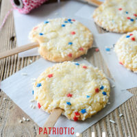 Patriotic Sprinkle Cookies