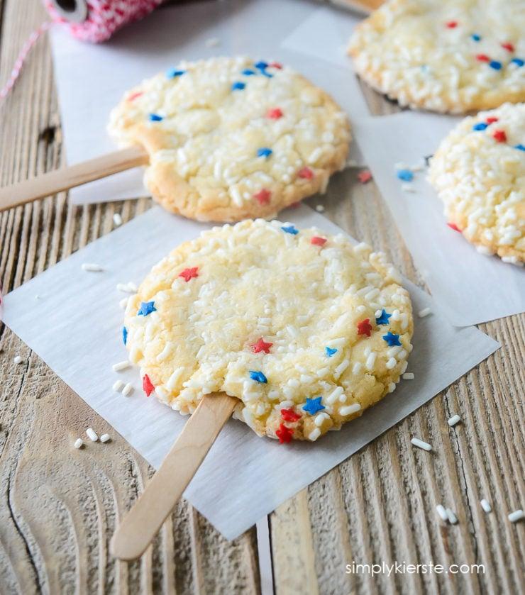 Patriotic Sprinkle Cookies | oldsaltfarm.com