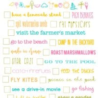 Summer Bucket List Printable!