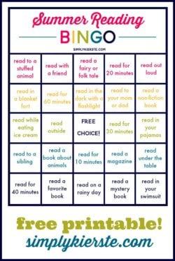 Summer Reading Bingo | simplykierste.com
