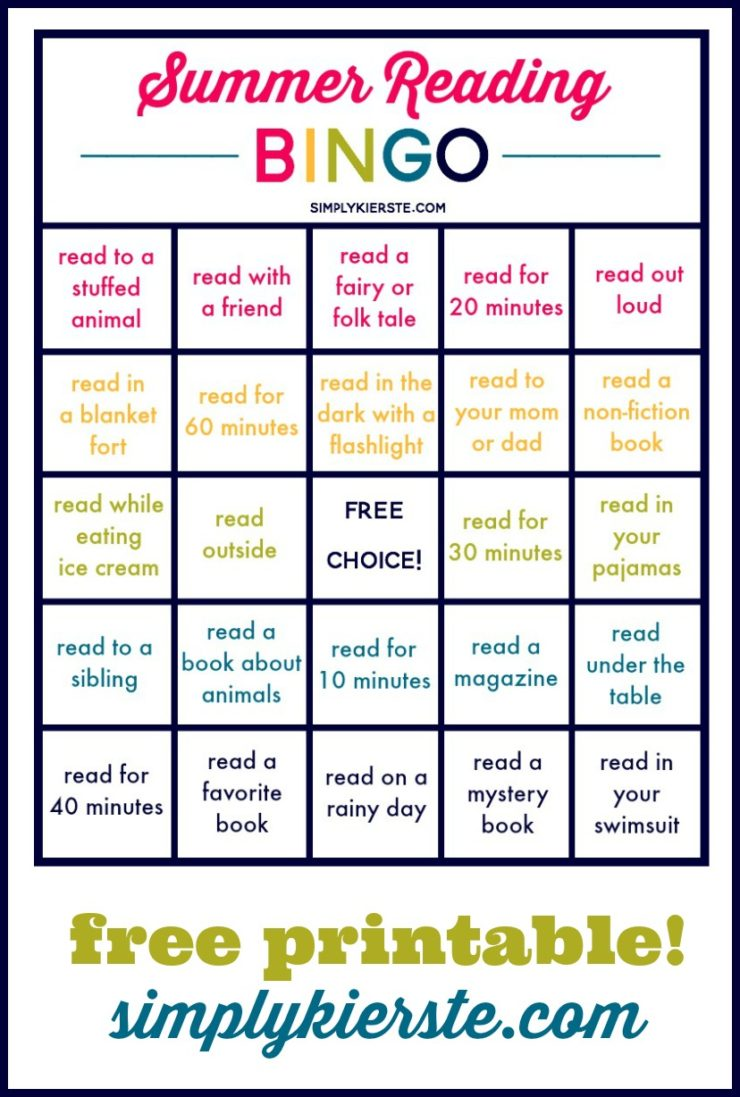 Summer Reading Bingo: Summer Ideas for Kids & Families #summerreading #readingideas #kidsreading #readingforkids #readingbingo #bingo #summerbingo #summerideas #summerlearning #summerfun #summerplan