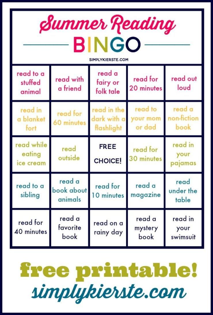 Summer Reading Bingo: Summer Ideas for Kids & Families #summerreading #readingideas #kidsreading #readingforkids #readingbingo #bingo #summerbingo #summerideas #summerlearning #summerfun #summerplan