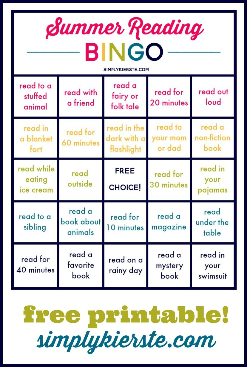 Summer Reading Bingo Summer Ideas For Kids Amp Families