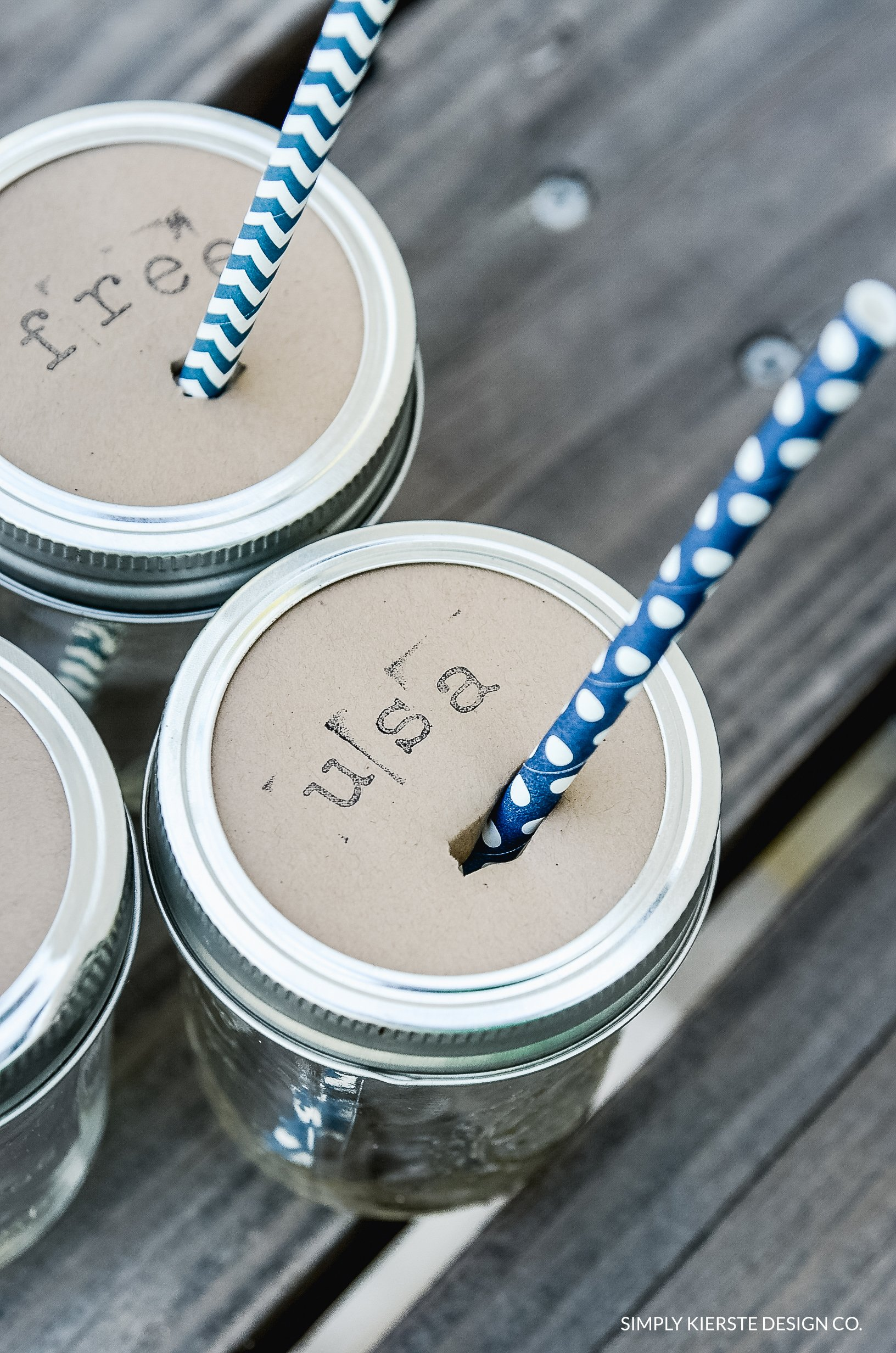 Mason Jar Drink Toppers
