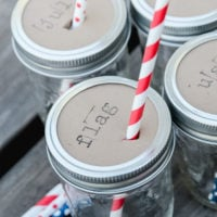 4th of July Mason Jar Drink Toppers | simplykierste.com