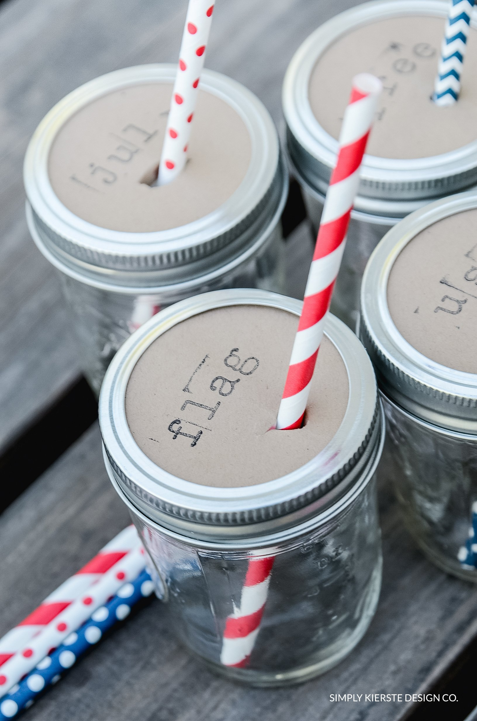 4th of July Mason Jar Drink Toppers | oldsaltfarm.com