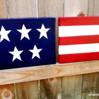 DIY Canvas Flag Decor