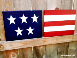 DIY Canvas Flag Decor | simplykierste.com