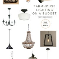 Farmhouse Lighting on a Budget