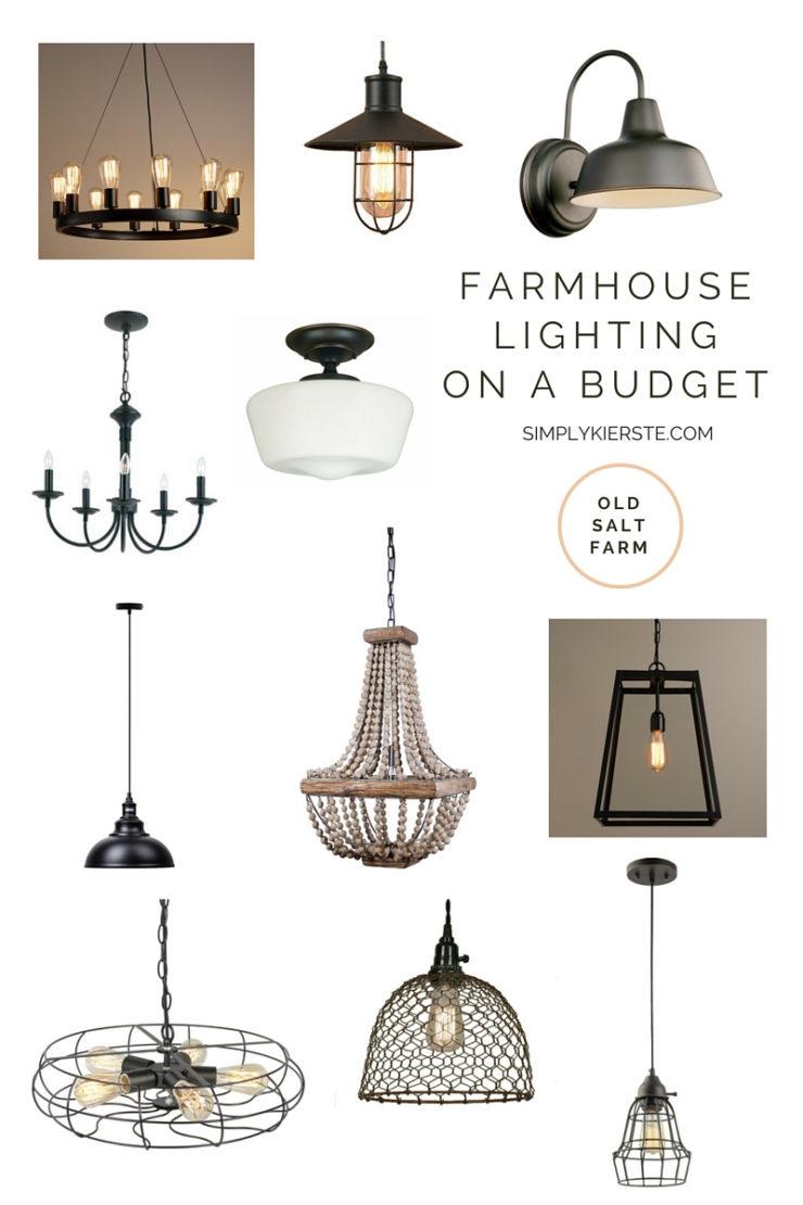 Farmhouse Lighting on a Budget | oldsaltfarm.com