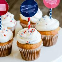 Patriotic Cupcake Toppers | oldsaltfarm.com