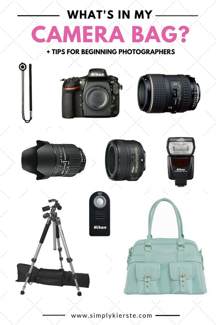 What's in my camera bag? +  Tips for Beginning Photographers! | simplykierste.com