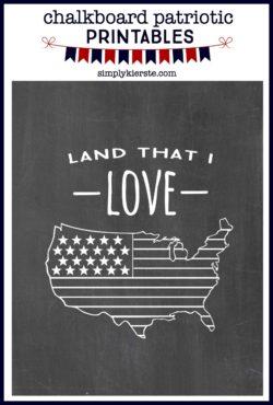 Chalkboard Patriotic Printables | simplykierste.com