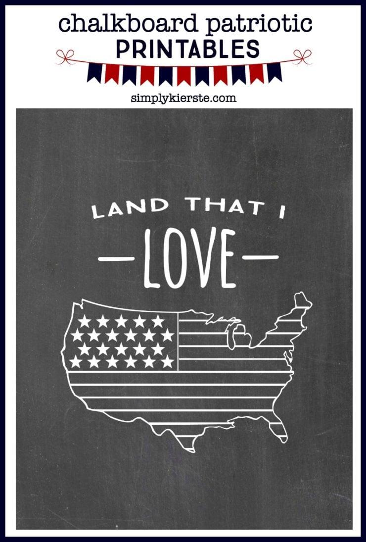 Chalkboard Patriotic Printables | oldsaltfarm.com
