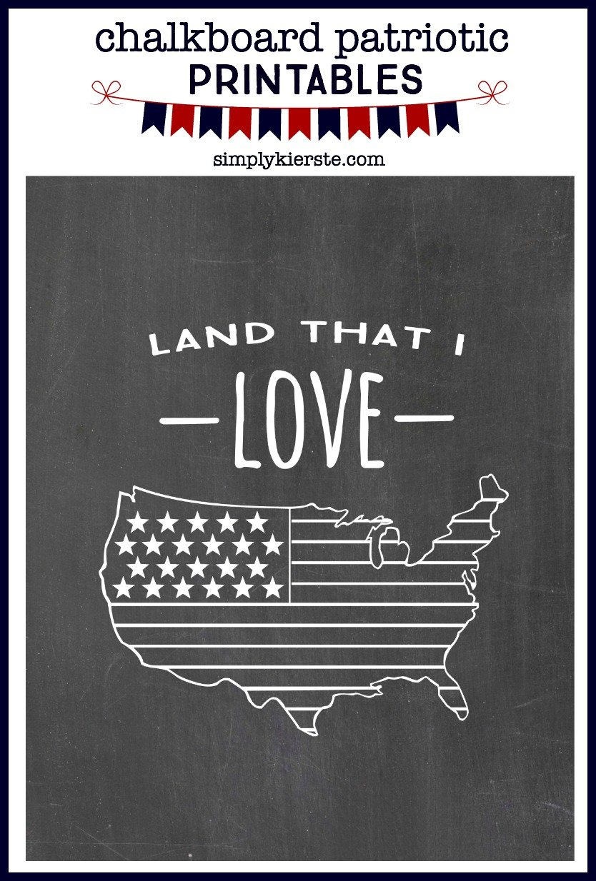 patriotic chalkboard printables simply kierste design co