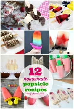12 Homemade Popsicle Recipes | simplykierste.com