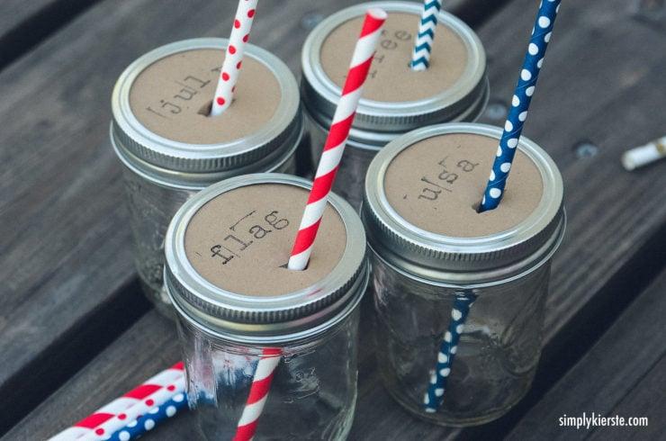 Mason Jar Drink Toppers | oldsaltfarm.com