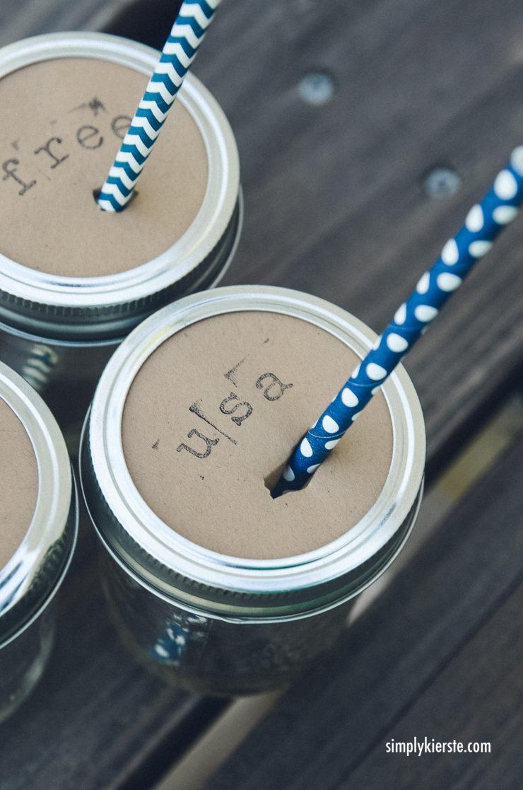 Mason Jar Drink Toppers | simplykierste.com