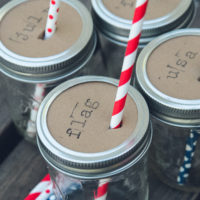 Personalized Mason Jar Drink Toppers