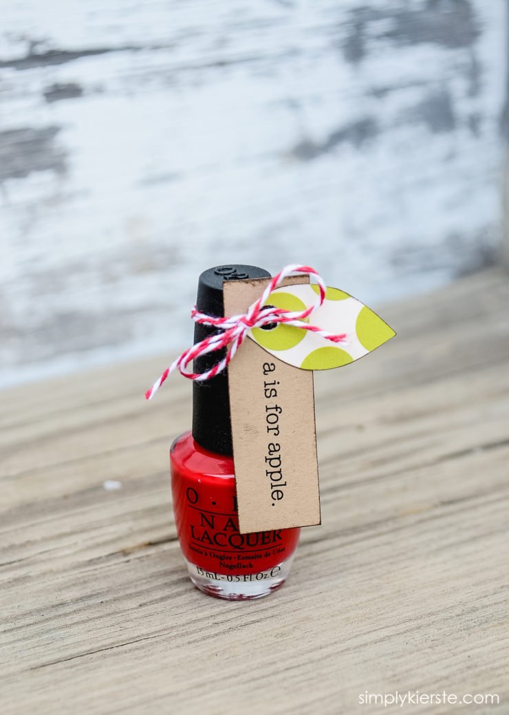 Back-to-School Apple Nail Polish| Teacher Gift Idea | simplykierste.com