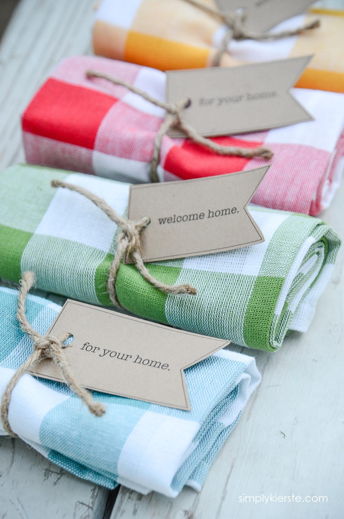 Easy & Adorable Dishtowel Gift Idea - Simply Kierste Design Co.