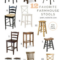12 Favorite Farmhouse Stools