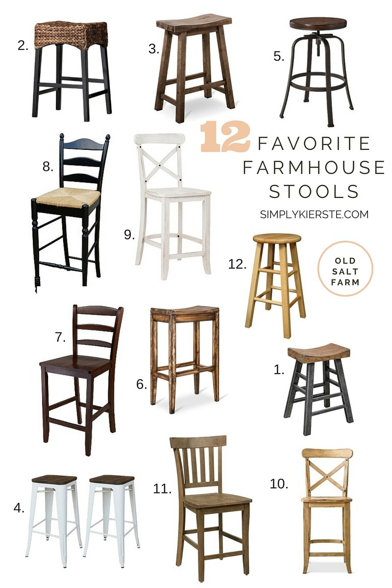 12 Favorite Farmhouse Stools