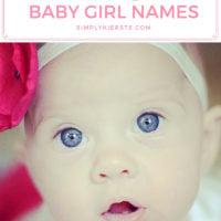 Vintage Baby Girl Names | simplykierste.com